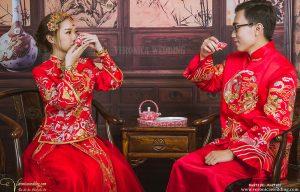 Áo Khỏa Nữ Họa Tiết Chử Hỷ Tinh Tế - Veronica Wedding - Kw212 (S) (2)